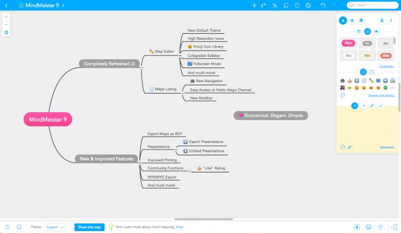 MindMeister 9 Mind Map Editor