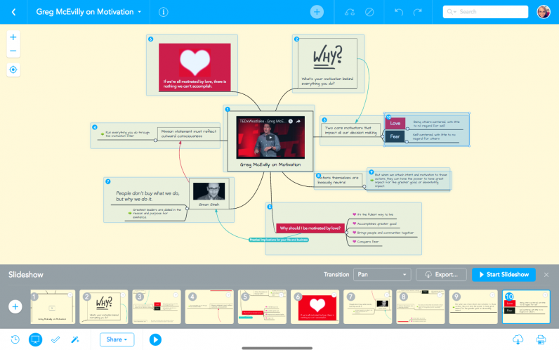 Create stunning presentations with MindMeister