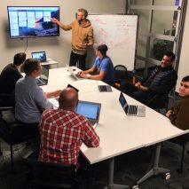 The LiveBy product management team with their MeisterTask project board