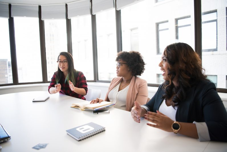 WOC in tech chat FLIKR - interview taking notes