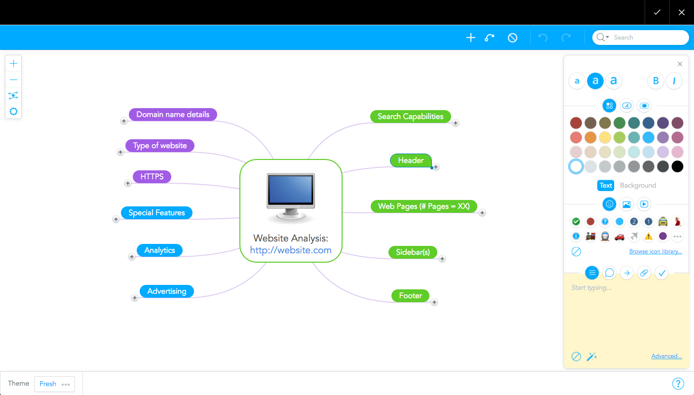 MindMeister's mind map editor in Confluence