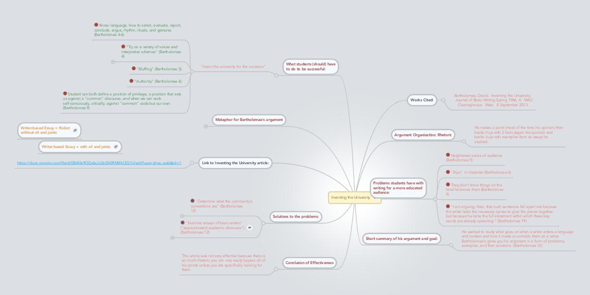 inventing the university david bartholomae summary
