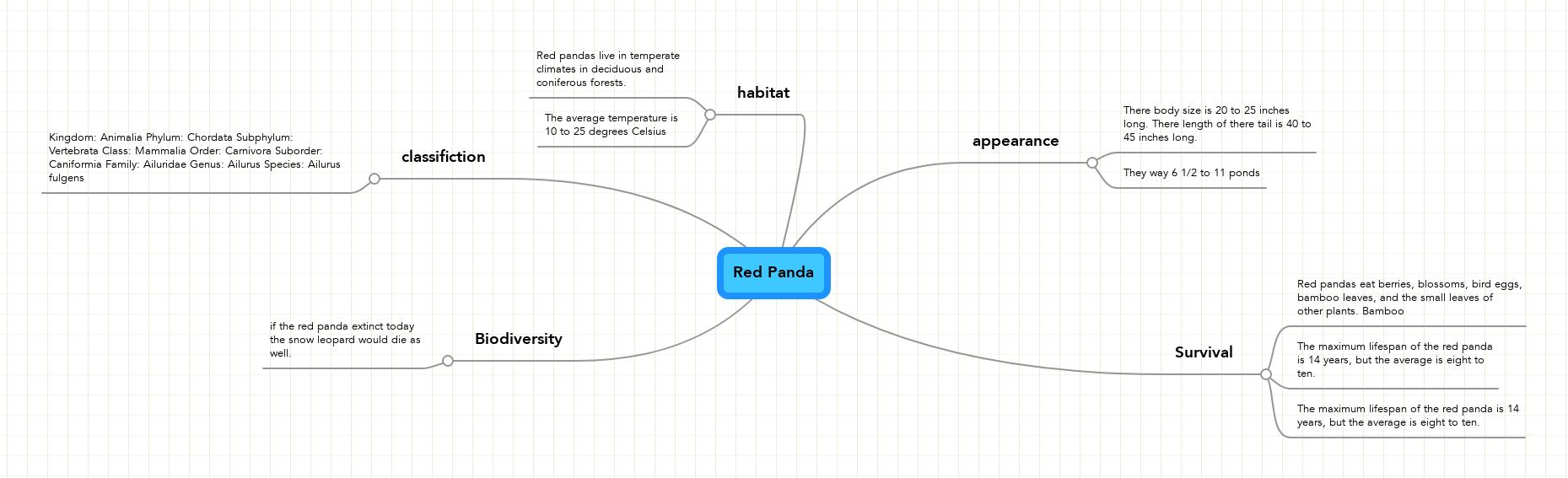 Animal Youtube Red Panda Mindmeister Mind Map