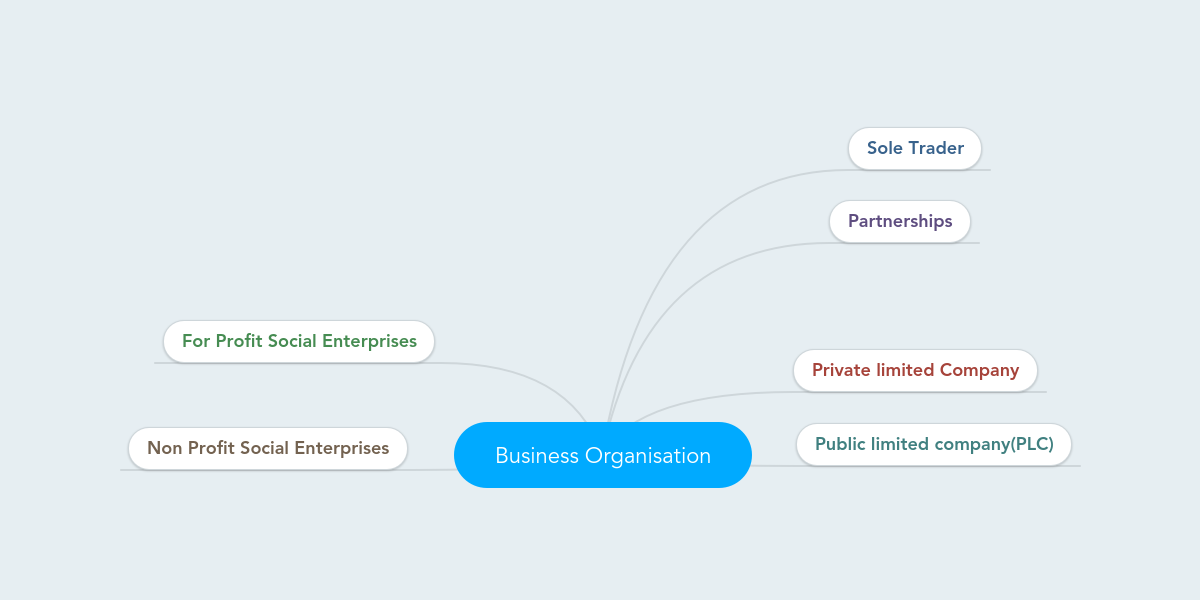 Business Organisation | MindMeister Mind Map