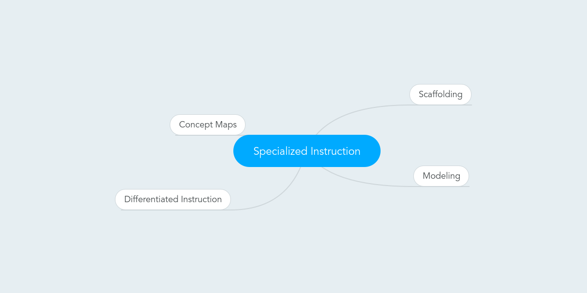 Specialized Instruction Example Mindmeister