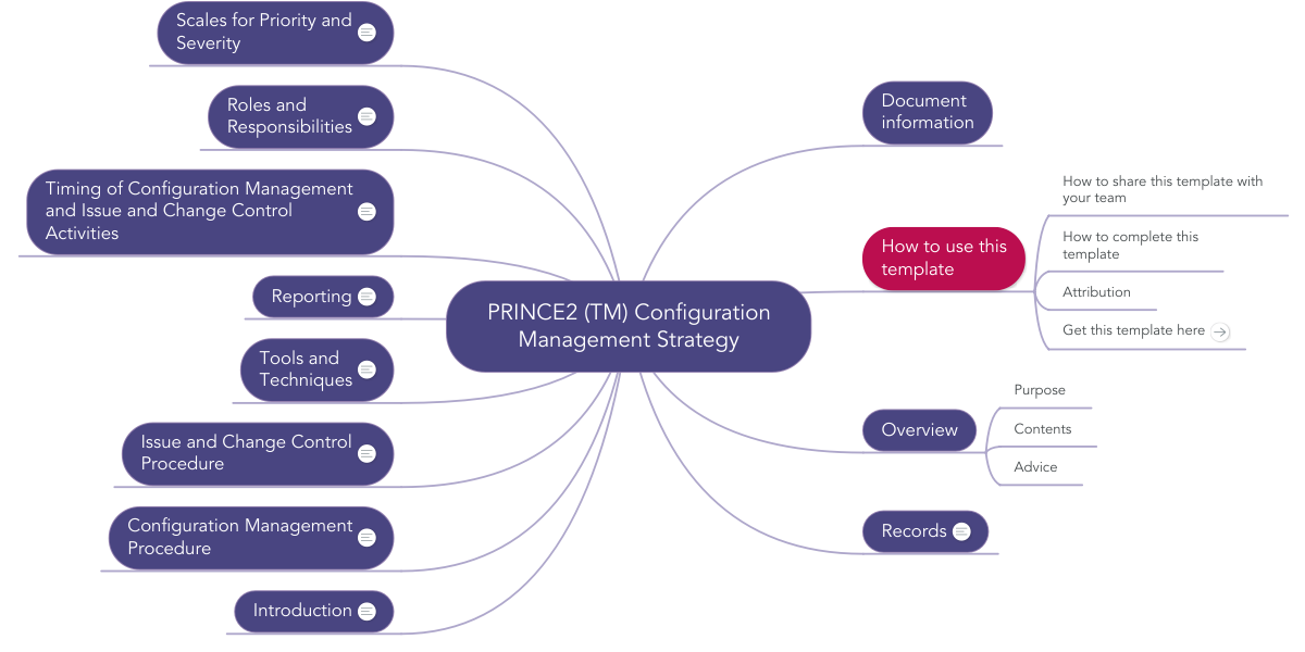 Prince2 Tm Configuration Management Strategy Mindmeister Mind Map