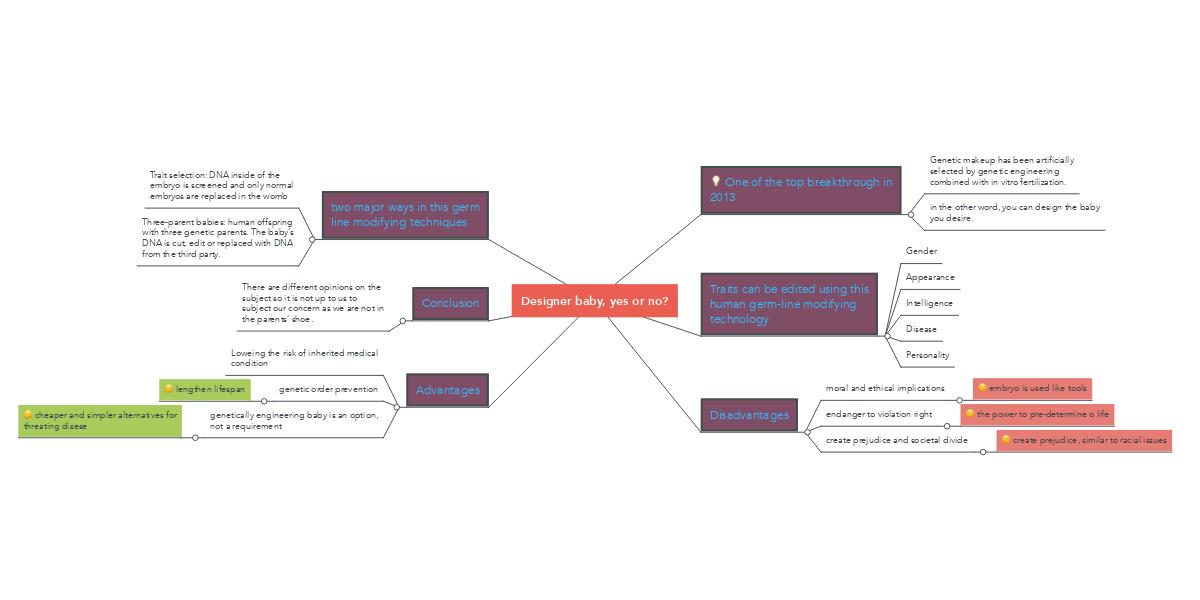 advantages and disadvantages of designer babies