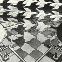 Escher day night