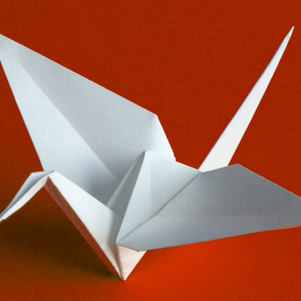 Grulla en origami