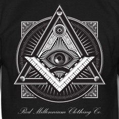 Men s black illuminati logo