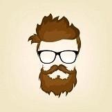 27346442 schnurrbart bart und frisur hipster in gl sern