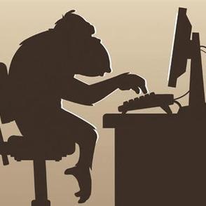 Mono escribiendo