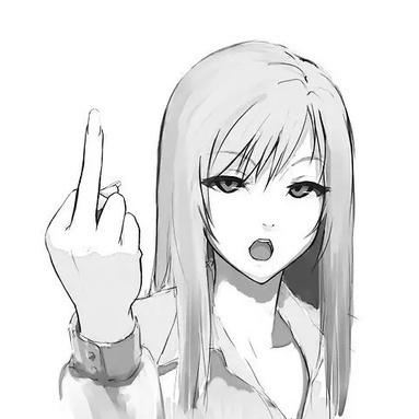 Anime girl manga middle finger favim.com 3779574