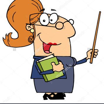 Stock photo caucasian cartoon teacher woman 68315071