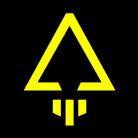 Logo jaune rond noir