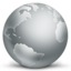Network globe disconnected icon