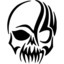 12 7 16 4cm scary tribal skull vinyl sticker fashion funny decorative motorcycle car sticker black