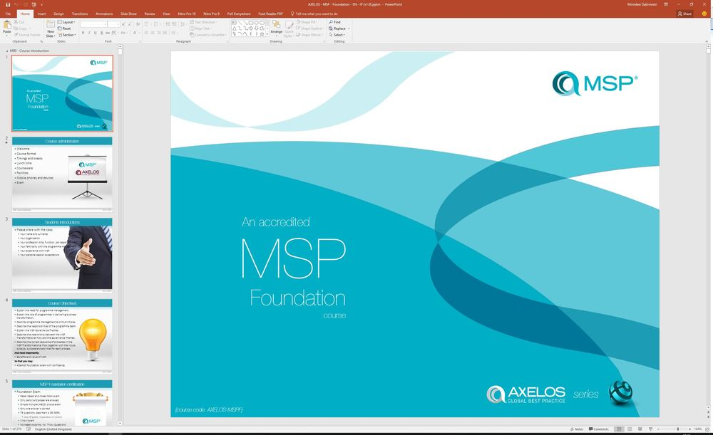 Managing successful programmes msp study guide example image not available msp foundation courseware fandeluxe Images