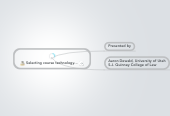 Mind map: Selecting course technology...