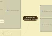 Mind map:  Contenidos por unidades de Introducción a la comunicación científica