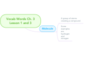Mind map: Vocab Words Ch. 3 Lesson 1 and 3