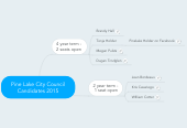 Mind map: Pine Lake City Council Candidates 2015