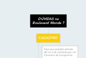 Mind map: DÚVIDAS na Boulevard Monde ?