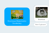 Mind map: Enormous Watermelon Vocabulary