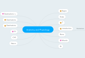 Mind map: Anatomy and Physiology