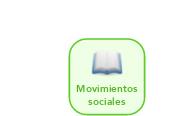 Mind map: Movimientossociales
