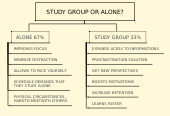 Mind map: STUDY GROUP OR ALONE?