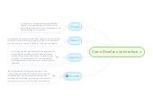 Mind map: Como Diseñar una Interface