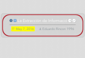 Mind map: La Extracción de Informació