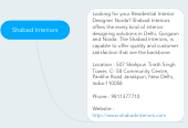 Mind map: Shabad Interiors