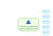 Mind map: Сучасна українськамова (з практикумом)
