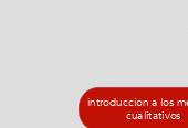 Mind map: introduccion a los metodoscualitativos