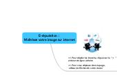 Mind map: E-réputation :  Maîtrisez votre image sur internet