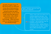 Mind map: Amplify Chapter 5 pg. 91. We anchored it to what we knew about best-practice teaching and how it might enhance what we were already doing, so we could make informed decisions about when, why, where and how best to use technology. What are your plans to enhance what you are already doing?