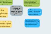 Mind map: Objetivo de las fracciones del articulo 115 en materia del servicio de seguridad pública.