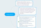 Mind map: BURACRACIA