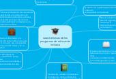 Mind map: características de losprogramas de educacióninclusiva