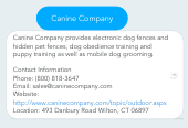 Mind map: Canine Company