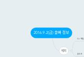 Mind map: 2016.9.2(금) 출빠 정보