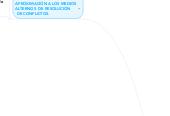 Mind map: MEDIOS ALTERNOS DERESOLUCIÓN DE CONFLICTOSY PARADIGMAS PARAABORDAR EL CONFLICTO