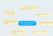 Mind map: objetivos metas y estrategias de la primera infancia