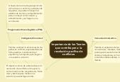 Mind map: Importancia de las Teorías que contribuyen a la resolución pacífica de conflictos