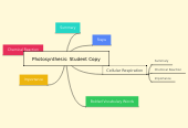 Mind map: Photosynthesis: Student Copy