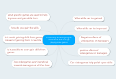 Mind map: In what way do teenagers gain valuable life skills through playing video games