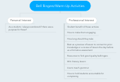 Mind map: Bell Ringers/Warm-Up Activities