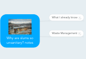 Mind map: Why are slums so unsanitary? notes